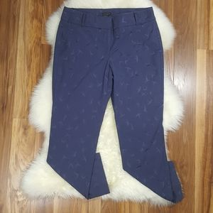 Ann Taylor Factory Signature Navy Bird Ankle Pant8